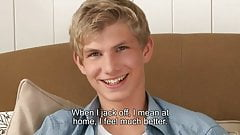 young gay teen talking and wanking
