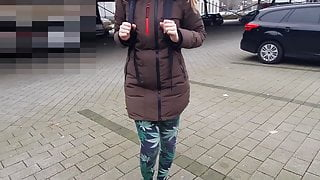 Student in Public Sucks and Shows Tits!