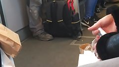 German worker with nice bulge in the Subway