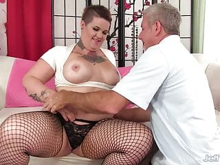 Man gets breast implants in tattoo - Pervy old man cant get enough of tattooed bbw nova jades