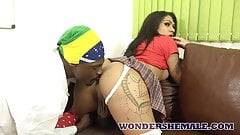 Latina transsexual wants her professor's big black dick