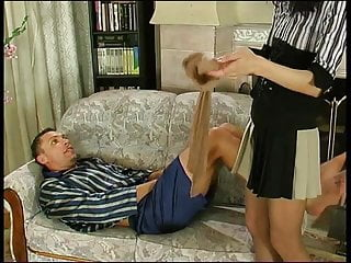 Sheer dresses and pantyhose She fucks him in sheer pantyhose