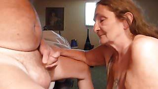 sucking off my husband again got a lot of cum