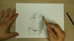 Really easy nude sketch 1x