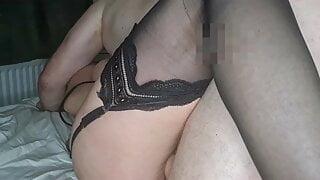 Horny wife using dildo to masturbate