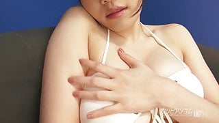 Asian Chick Bathed with Lotion and toyed
