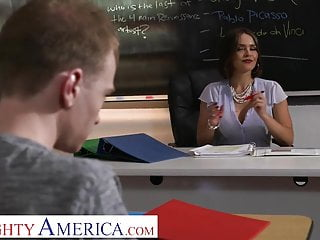 Why is sex taboo in america Naughty america - professor krissy lynn loves student cock