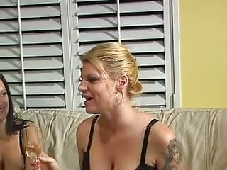 Pleasure fetish Bored milfs have some drinks before stripping and having pleasure