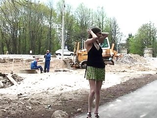 Russian mobile porn sites - Naughty in public alex nude at the construction site