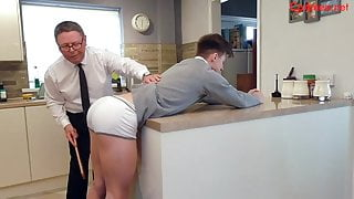 House Boy Spanking! Featuring Angelo