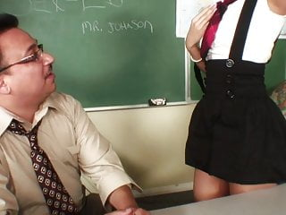Spanked in class video Horny teacher gets to fuck a smoking hot brunette in class