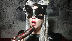 CatWoman Cosplay - blowjob