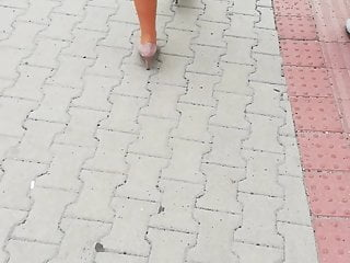 Candid milf street - Candid two milf walking on the street city
