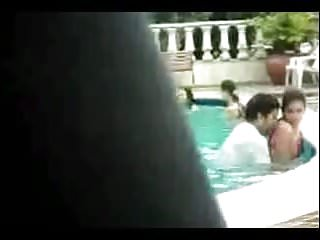 Swimming pool sex Caught sex in swimming pool