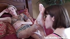 We always have a little foot fetish session after school