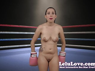 Big tits in boxing ring - Naked femdom in boxing gloves ring kos bitch boy