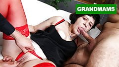Two Brothers Fuck a Nasty Granny