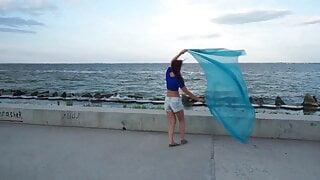Dance with Blue Shawl (crane)