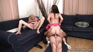 His dirty parents seduce her into threesome