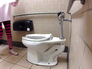 Grocery store handjob - Grocery store toilet