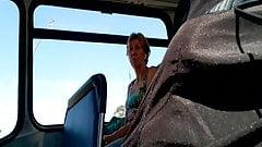 Bulge watching older lady