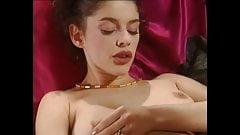 Great vintage - Brunette slut getting all her holes filled