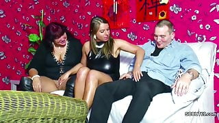 German Mom and stepdad Seduce not Step-daughter to Fuck