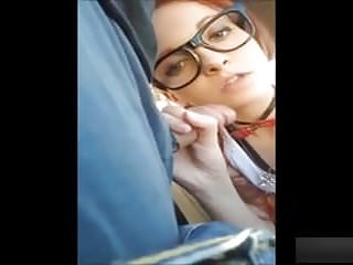 Bump on outside of anus - School girl suckig and fucking outside of the car