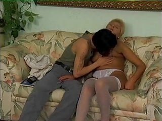 Sexy hold ups Mature blonde in white hold ups fucks