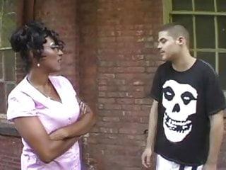 Whites girls tits - Black girl white guy
