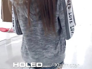 Tight fit condom Holed tight fit deep anal pounding
