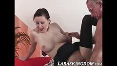 Mature beauty spanked before she pleases an older man