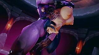 Sexy Human Swallows Huge Futa Draenei Cock