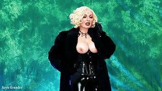 Femdom JOI POV Smoking Mistress in furs