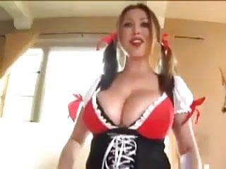 Pov titty fuck movies Busty bar maid gives titty fuck