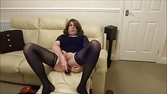 Sexy Crossdresser Alison - Butt plug and cum