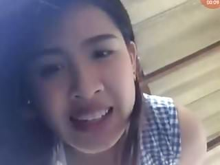House work nude Thai teen upskirt during house work 2