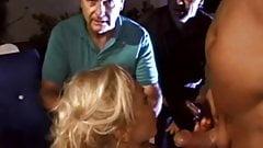 Platinum Blonde Swinger Shagging A Stranger Arousement