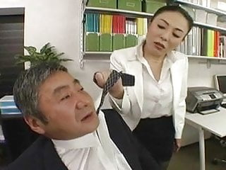 Office supply sex toys Japanese boss fucks her employee so hard at office - rts