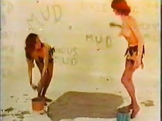 Sexy mud wrestle Retro mud wrestling