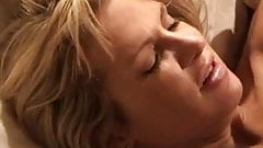 Blonde white wife with black lover - Interracial Cuckold Home-made