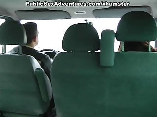 Lesbians fucking in the car slutload Chick in pink fishnets fucking in the car