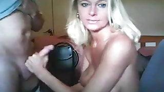 Hot Blonde Cheating MILF Sucking Big Dick