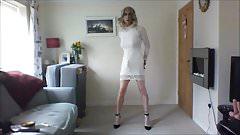 I love my new white minidress