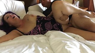 Stranger fucks my wife and cums in her pussy