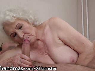 Freud box porn - Lustygrandmas sensual granny uses hairy box to ride
