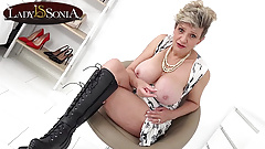 Lady Sonia cant help but to laugh at your cock