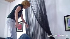 Redhead MILF fucks with a Stranger