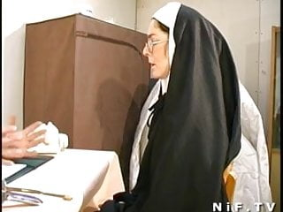 Gigantic anal insertions French nun fucked and facialized with weird anal insertions