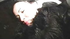 Babe in Fur Gives Blowjob